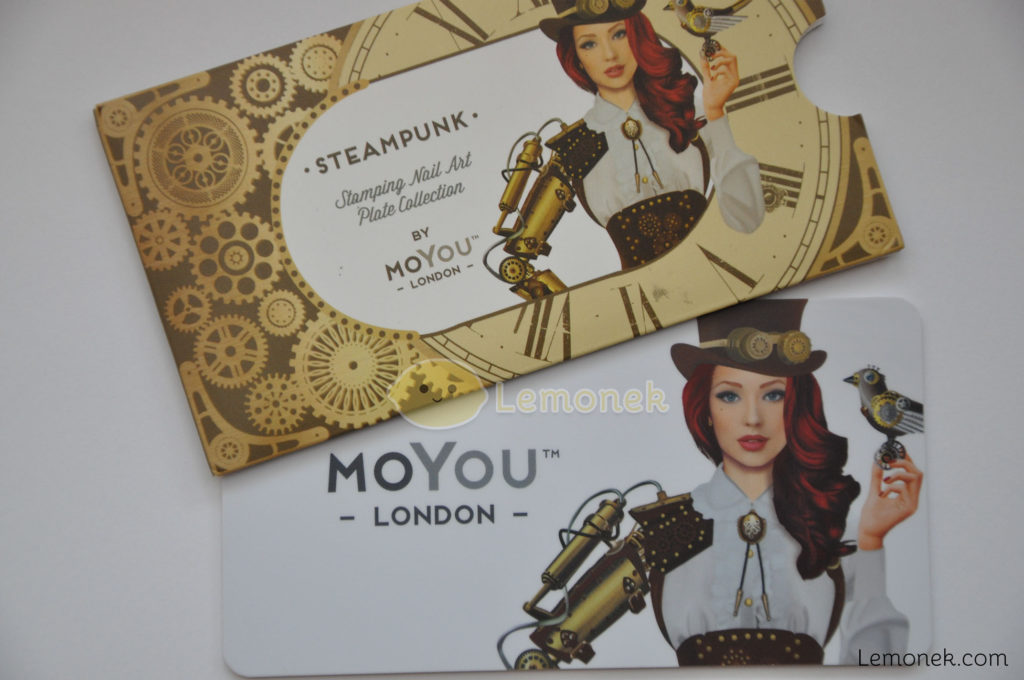 steampunk moyou london płytka do stempli blaszka