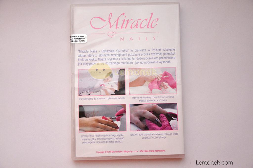 pudełko miracle nails szkolenie kurs dvd certyfikat plomba