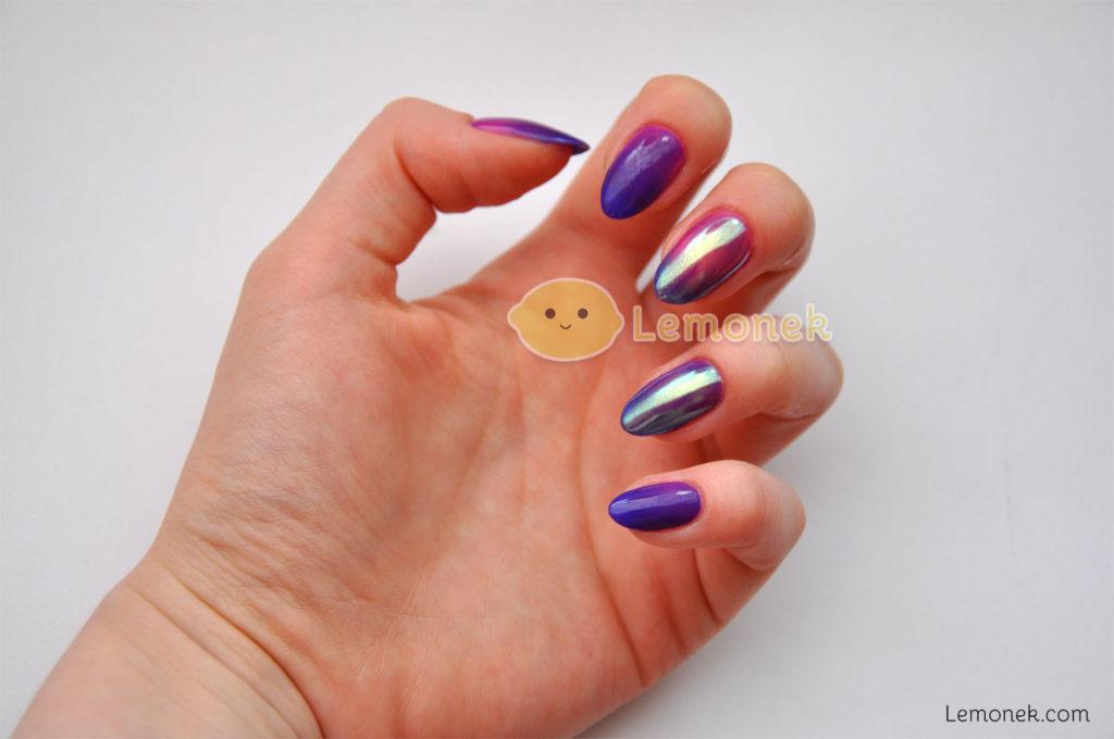 zimno purple bunny neonail lemonek hybryfda termiczna peacock feather polish róż ciepło lena paznokcie