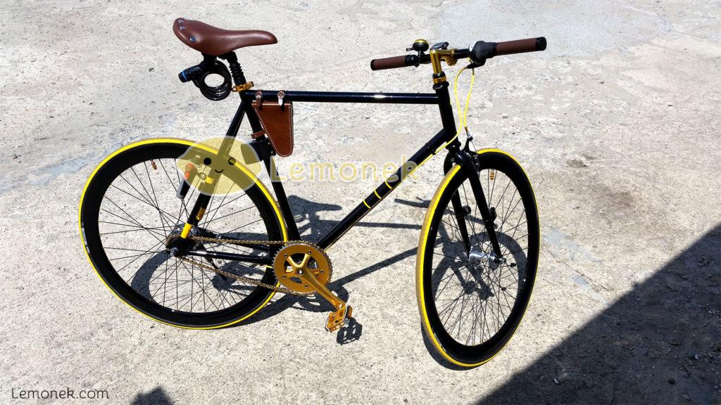 rower lemobike ostre koło złoty żółty czarny brązowy nexus 7