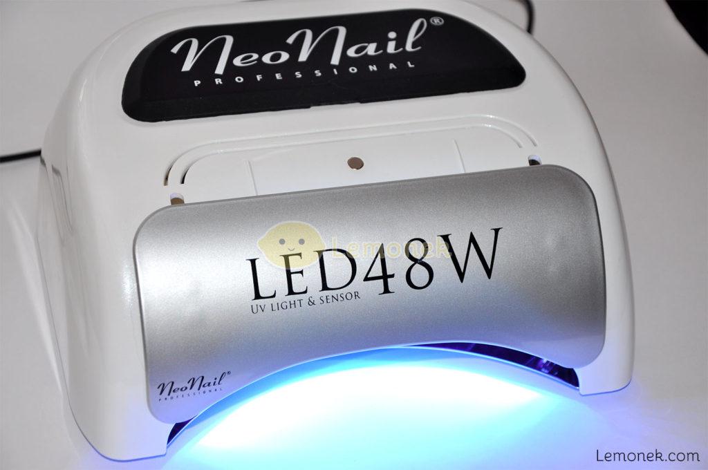 lampa neonail led uv 48W lemonek blog zasłonka nakładka światło