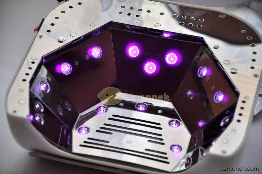 diody 6W lampa neonail led uv 48W lemonek blog lampki