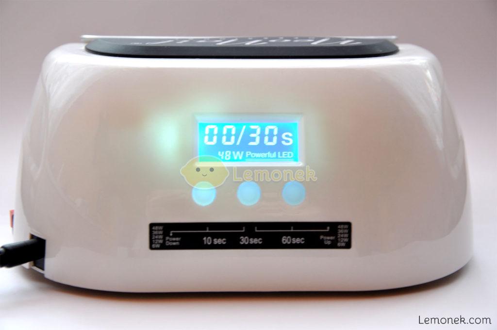 wyświetlacz sterowanie lampa neonail led uv 48W lemonek blog