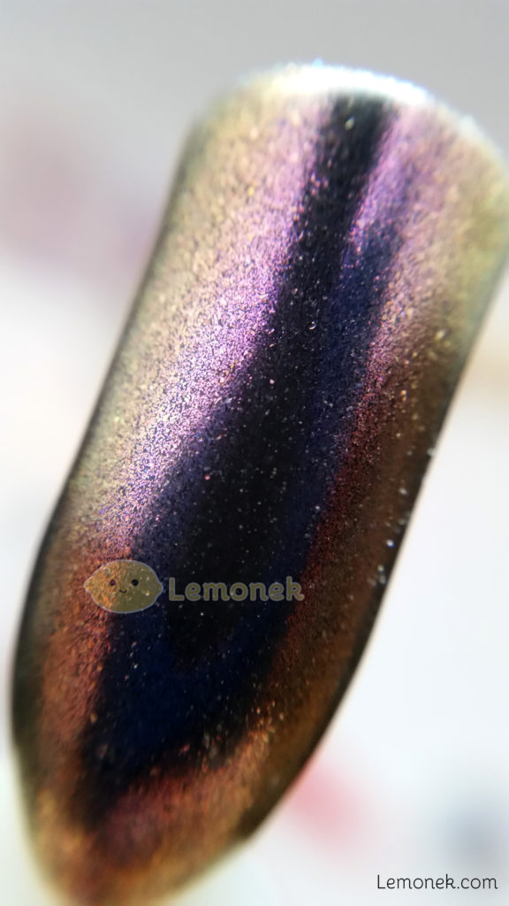 pyłki kameleony born pretty feather polish peacock pacynka puder złoto fiolet