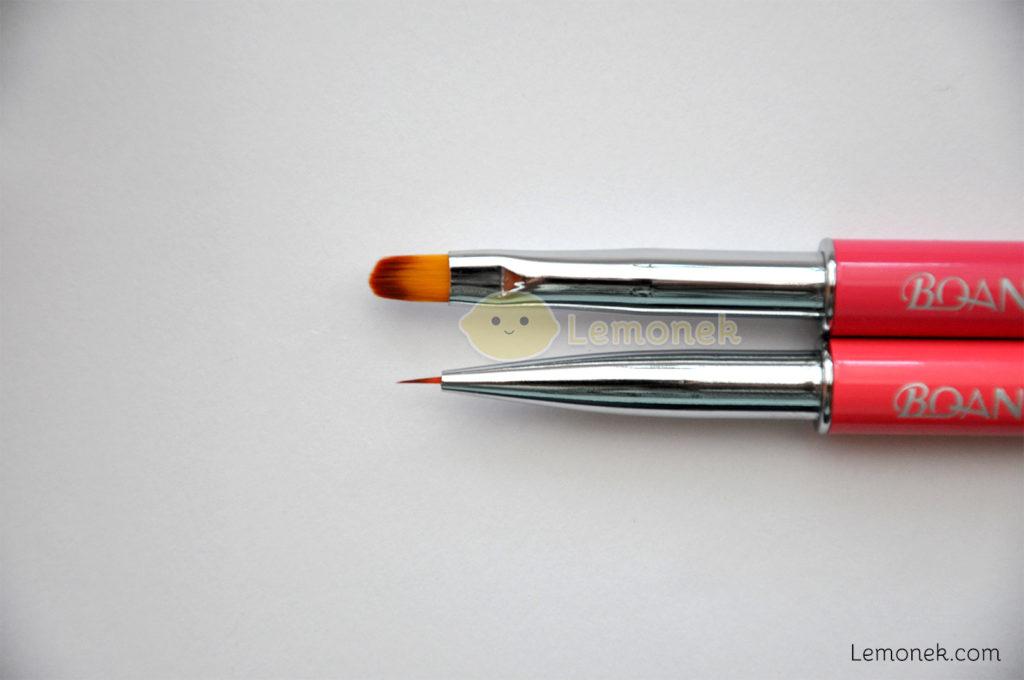 pędzelki bqan do żelu zdobień wzorki diamenciki opakowanie rurka ochronna kolory włosie