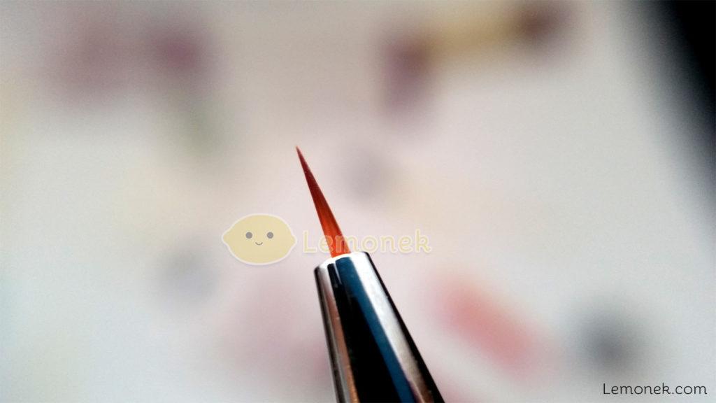 pędzelki bqan do żelu zdobień wzorki diamenciki opakowanie rurka ochronna kolory włosie cienki