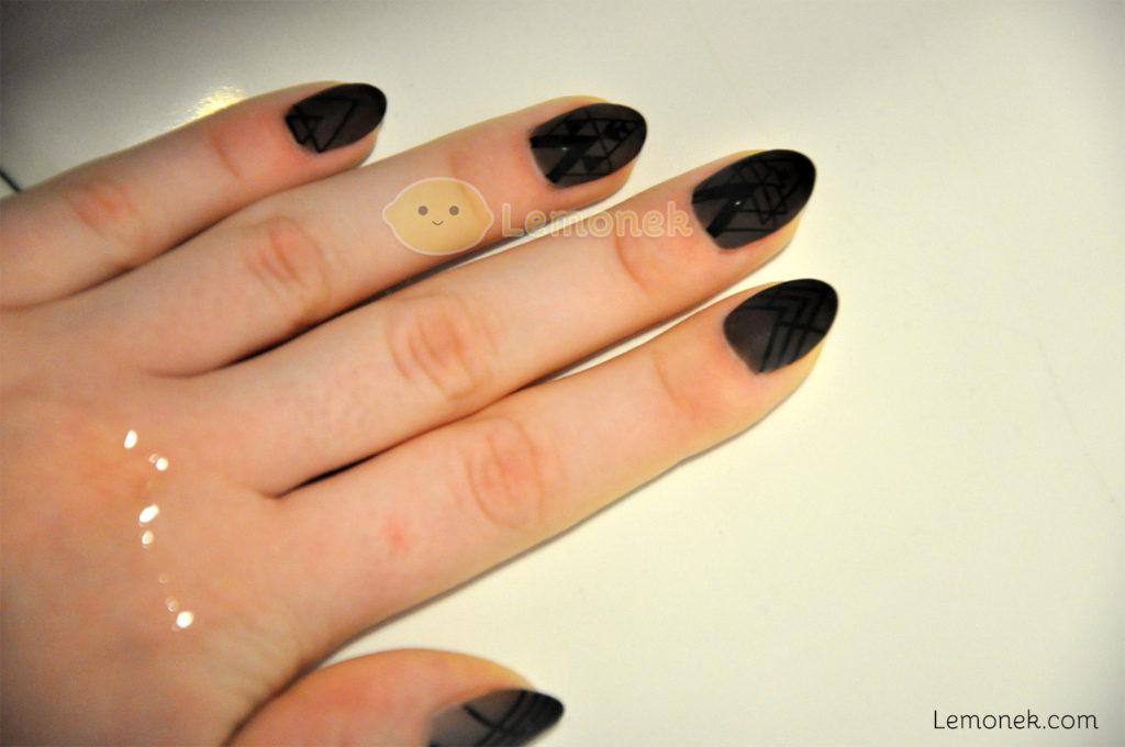 co użyłam neonail kads black eussian stempel clear jelly born pretty czarne szare w wodzie