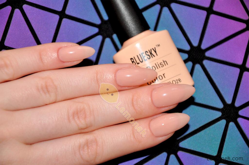 nude bluesky 80567 recenzja cyrkonie aliexpress srebrne nudziak delikatne shellac color aliexpress