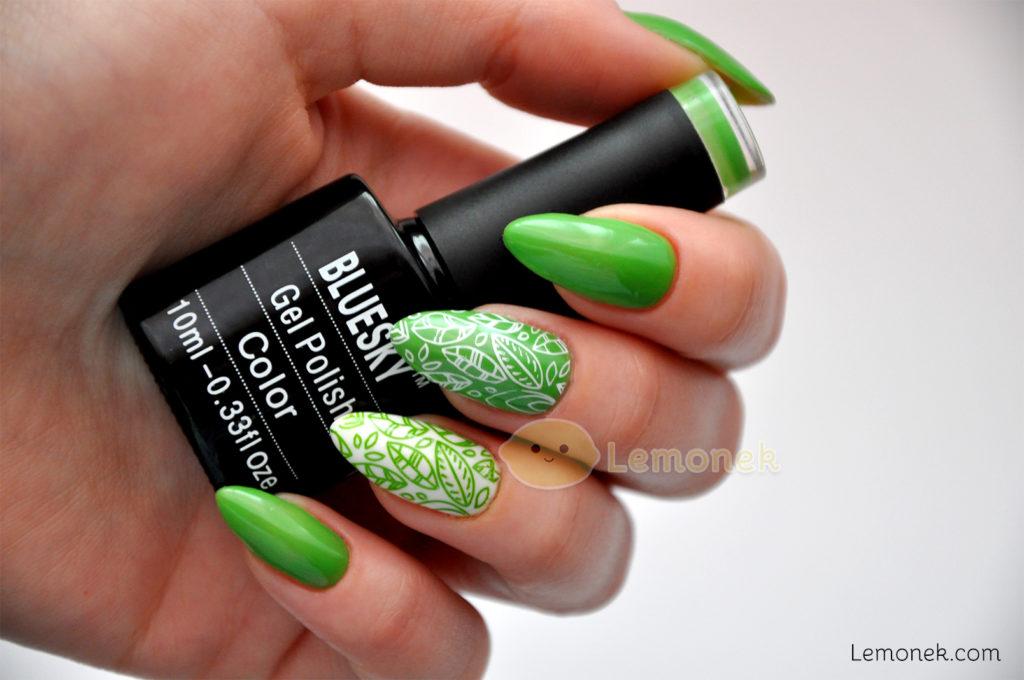 greenery zielone paznokcie nails bluesky dc109 paznokcie hybrydowe lakier recenzja