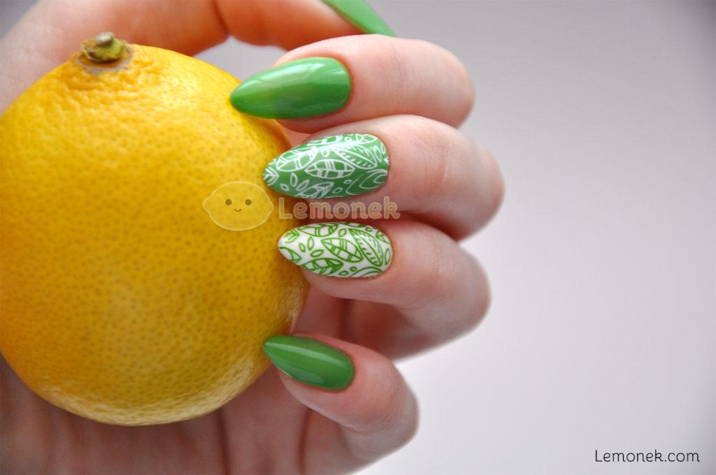 greenery zielone paznokcie nails bluesky dc109 paznokcie hybrydowe lakier recenzja stempel