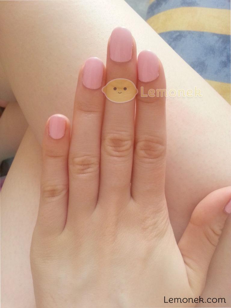 paznokcie przed nauka lemonek blog recenzja neonail pink pudding