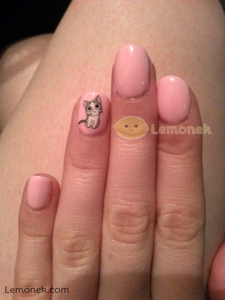 paznokcie przed nauka lemonek blog recenzja neonail pink pudding 3 podejście