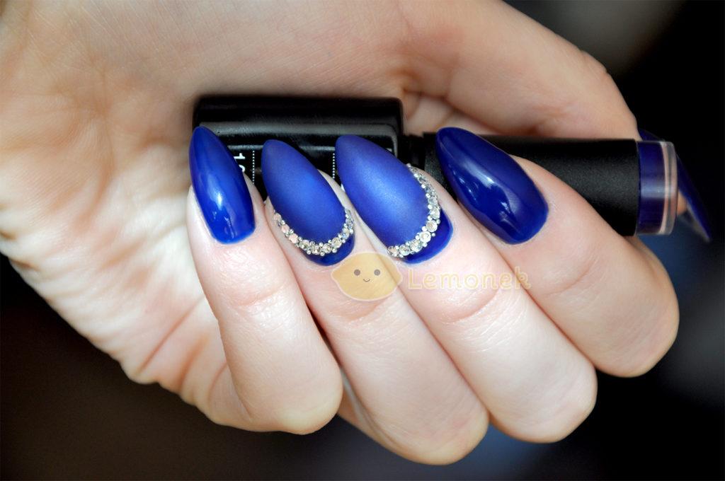 lemonek_navy_blue_zdobienie bluesky recenzja makro frozen kawior cyrkonie