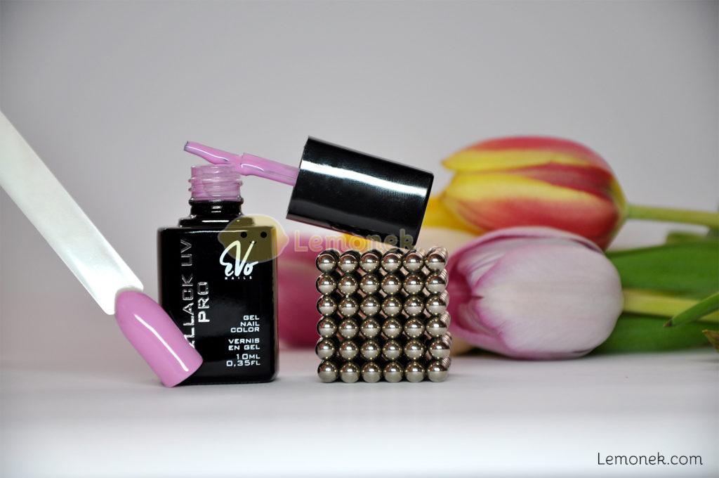 205 wear pink evo nails recenzja swatch lakier hybrydowy różowy pastelowy pędzelek