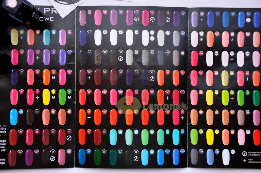 katalog evo nails lakiery hybrydowe kolory