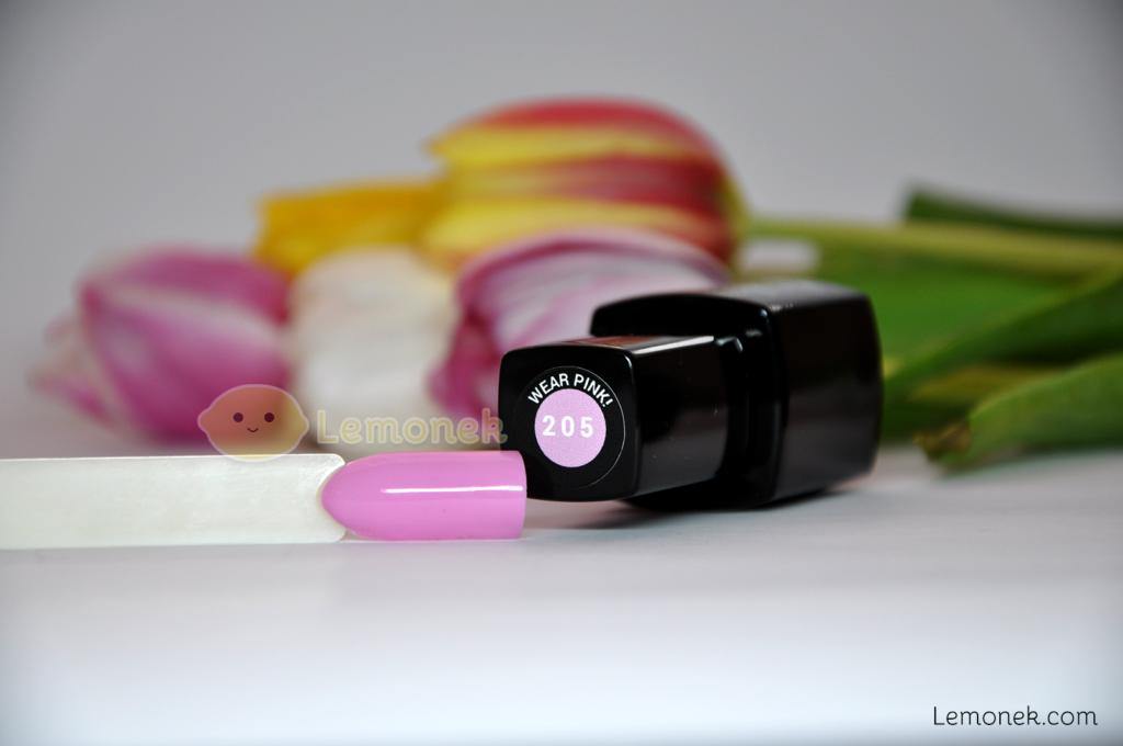 205 wear pink evo nails recenzja swatch lakier hybrydowy różowy pastelowy