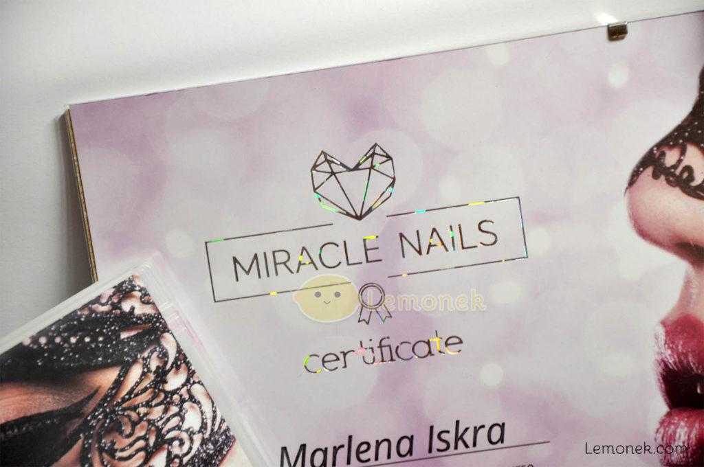 holo certyfikat miracle nails